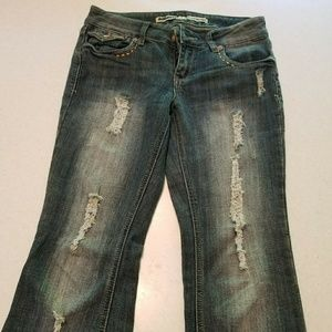 """DOLLHOUSE """"YOU ARE BEAUTIFUL"""" JEANS"""